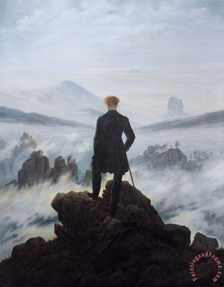 Wanderer Above The Sea of Fog painting - Caspar David Friedrich Wanderer Above The Sea of Fog Art Print