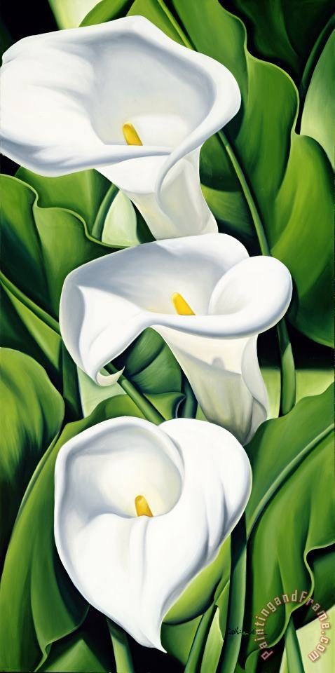 Lilies painting - Catherine Abel Lilies Art Print