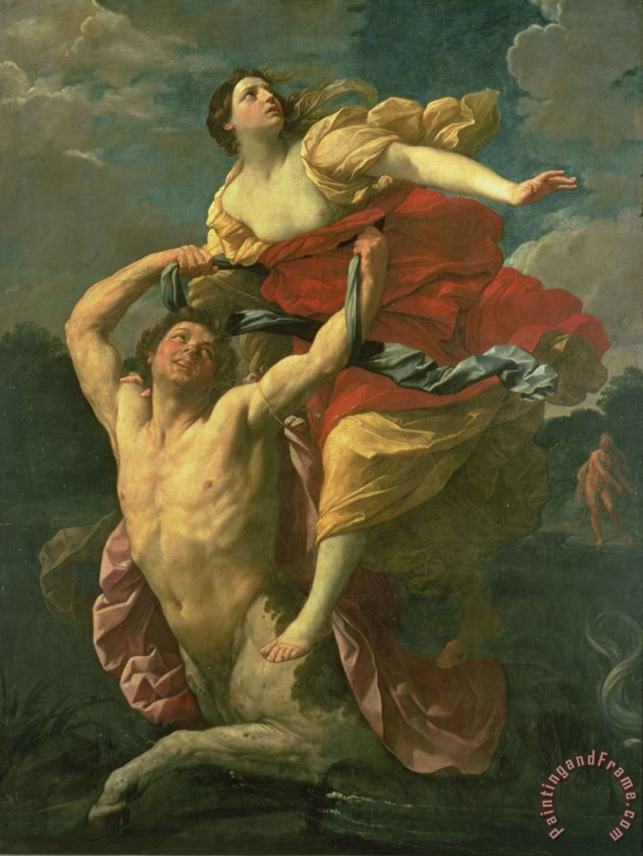The Abduction of Deianeira painting - Centaur Nessus The Abduction of Deianeira Art Print