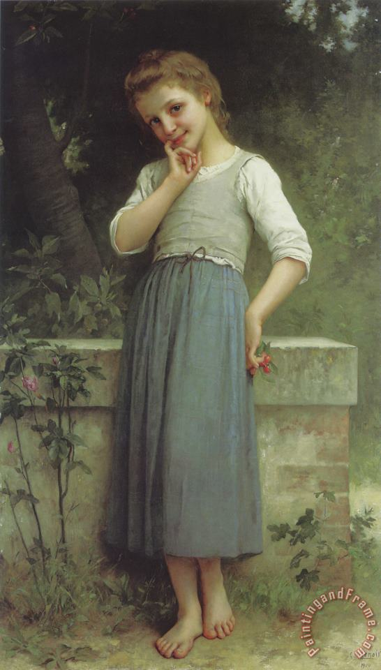 Charles Amable Lenoir The Cherry Picker Art Painting