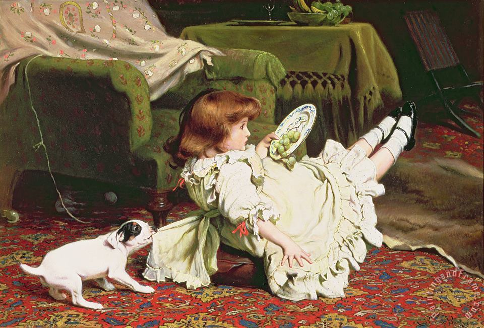 Time to Play painting - Charles Burton Barber Time to Play Art Print