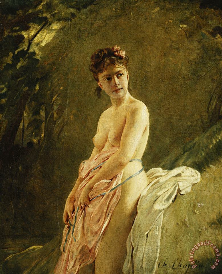 The Bather painting - Charles Chaplin The Bather Art Print