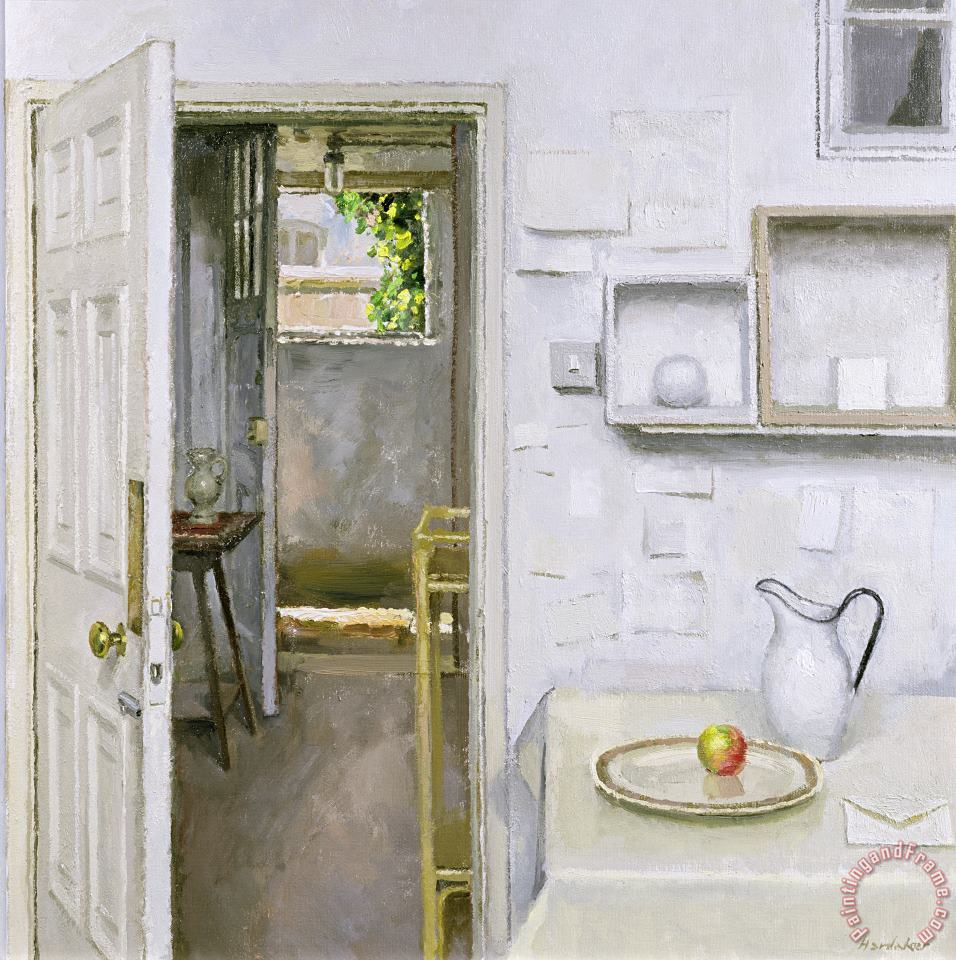 Open Doors With Still Life And Letter painting - Charles E Hardaker Open Doors With Still Life And Letter Art Print