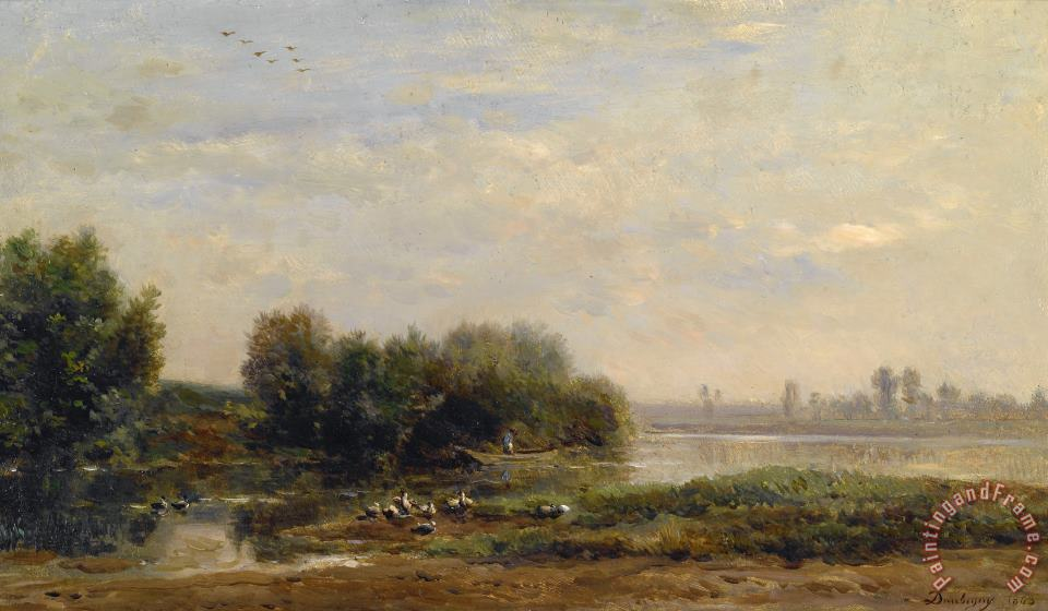 Charles Francois Daubigny On The Oise Art Print