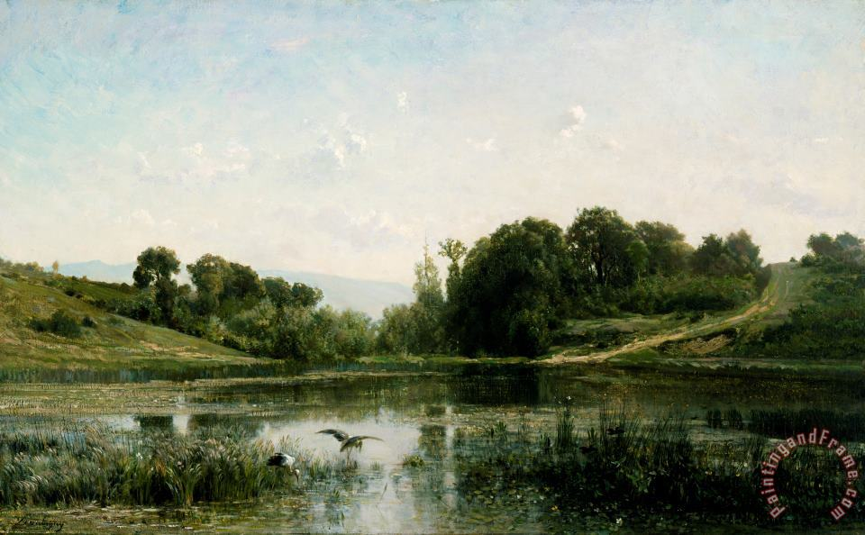 Charles Francois Daubigny The pond at Gylieu Art Print