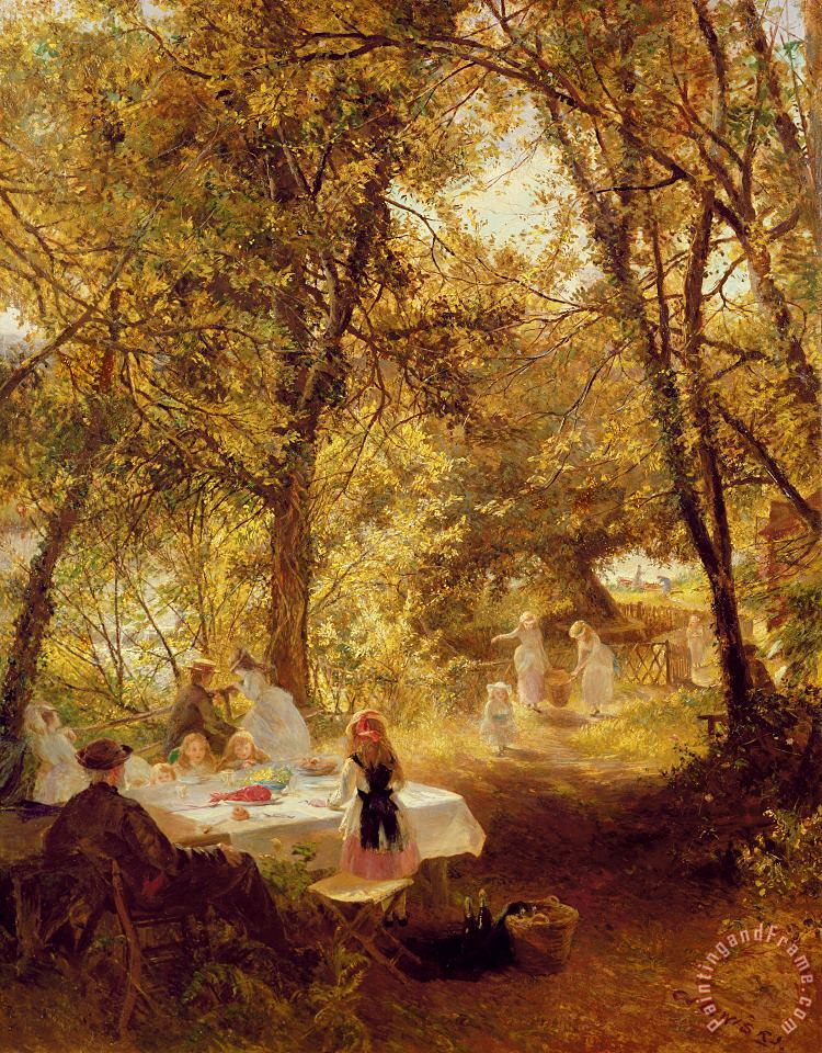 Charles James Lewis Picnic Art Painting