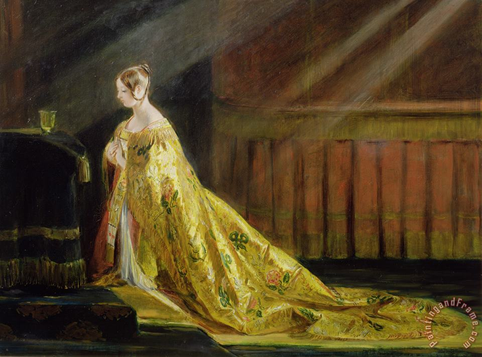 Queen Victoria in Her Coronation Robe painting - Charles Robert Leslie Queen Victoria in Her Coronation Robe Art Print