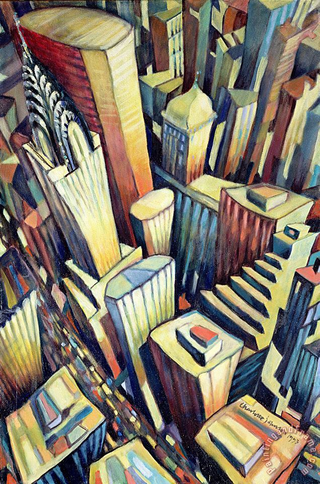 The Chrysler Building painting - Charlotte Johnson Wahl The Chrysler Building Art Print