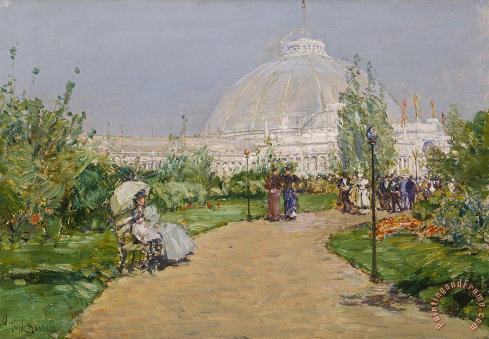 Horticulture Building, World's Columbian Exposition, Chicago painting - Childe Hassam Horticulture Building, World's Columbian Exposition, Chicago Art Print
