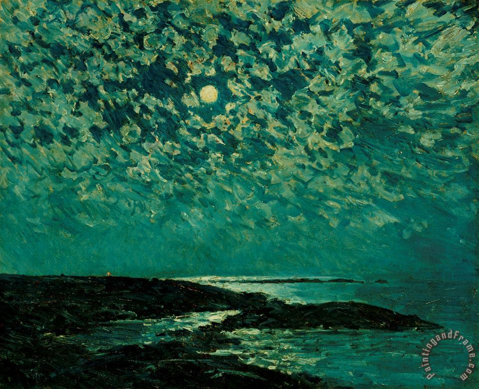 Childe Hassam Moonlight Art Print