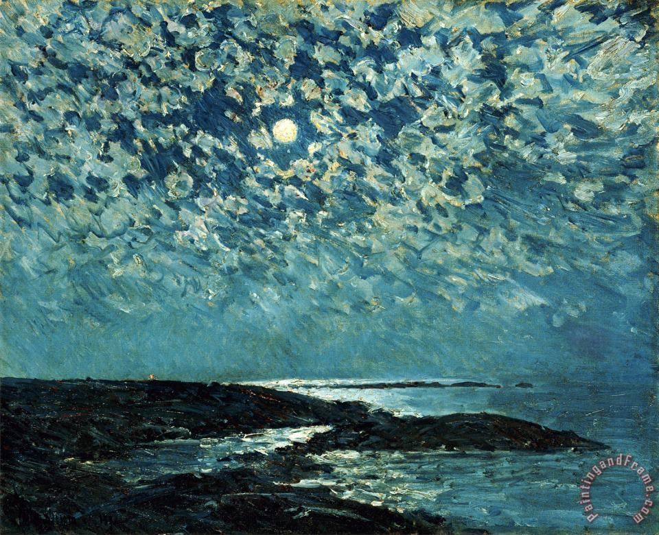 Childe Hassam Moonlight Isle of Shoals 1892 Art Print