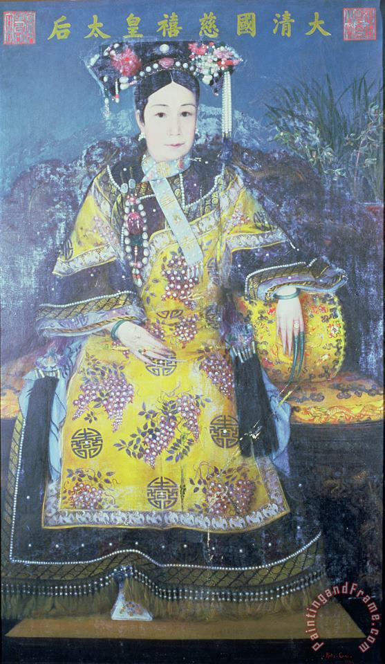 Portrait of the Empress Dowager Cixi painting - Chinese School Portrait of the Empress Dowager Cixi Art Print