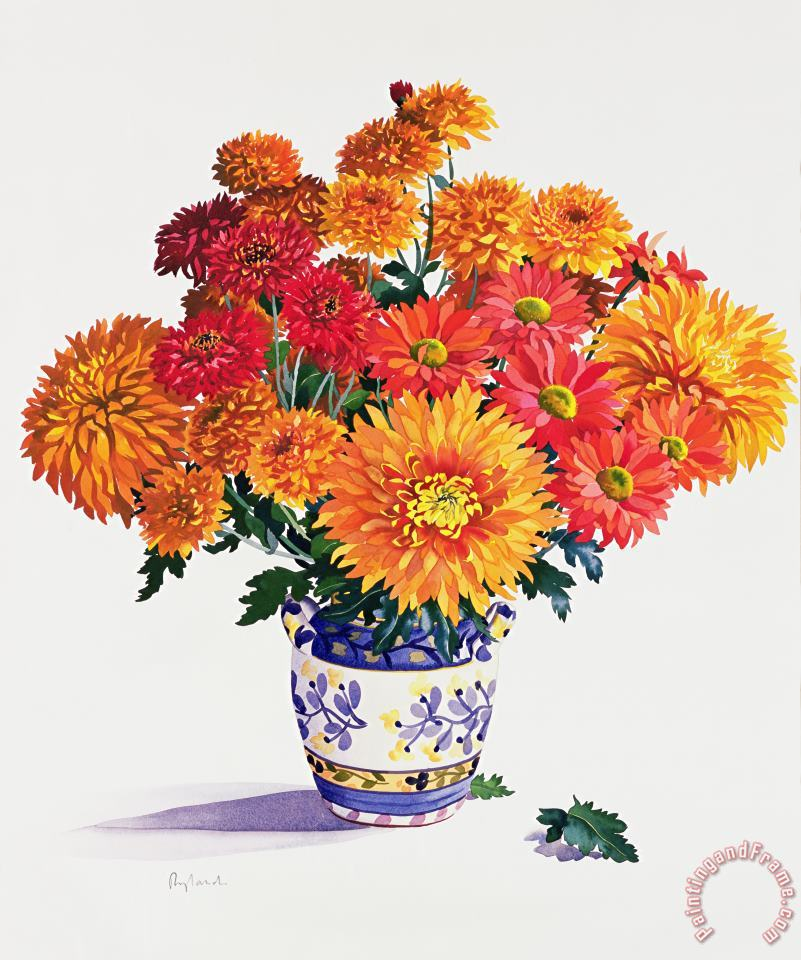 Christopher Ryland October Chrysanthemums Art Painting