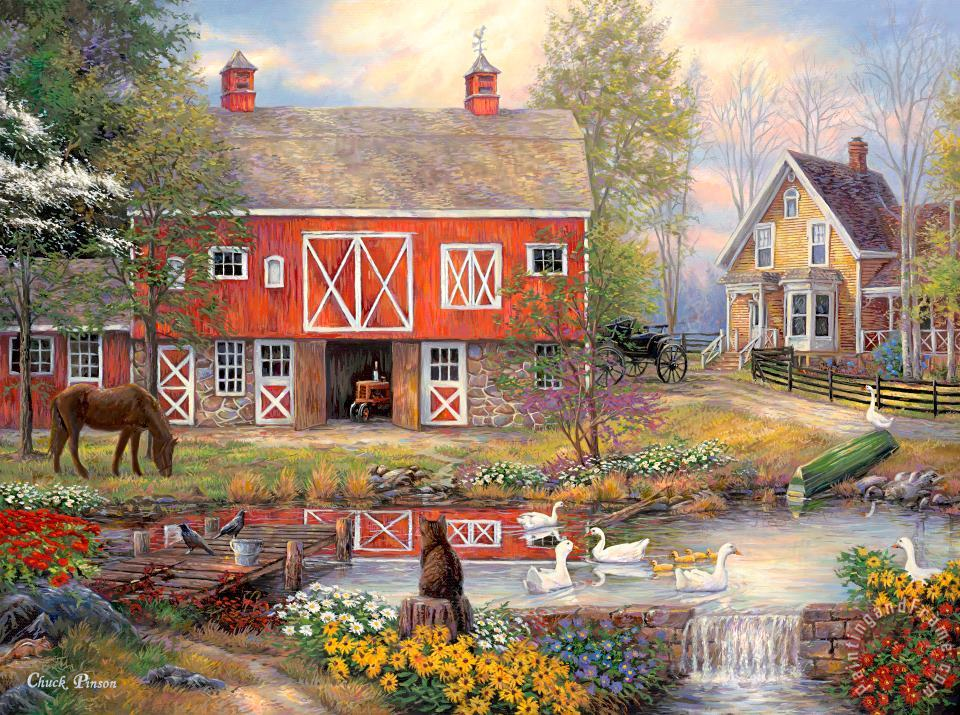 Chuck Pinson Reflections On Country Living Art Print