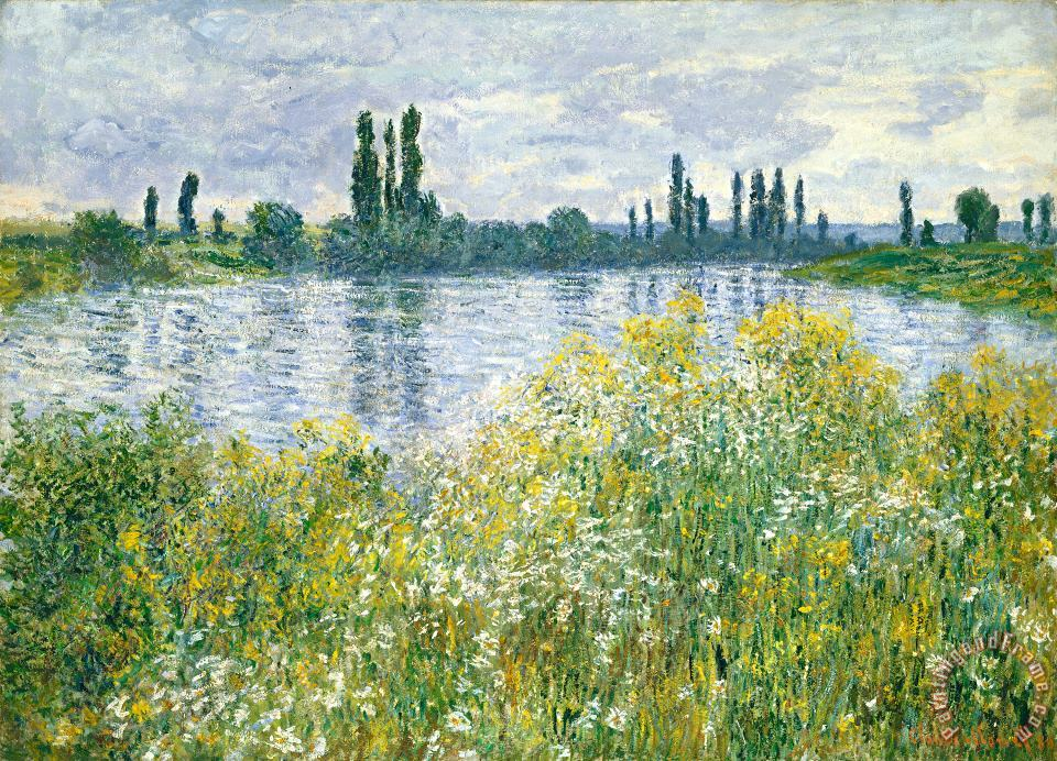 Claude Monet Banks Of The Seine Vetheuil Art Painting