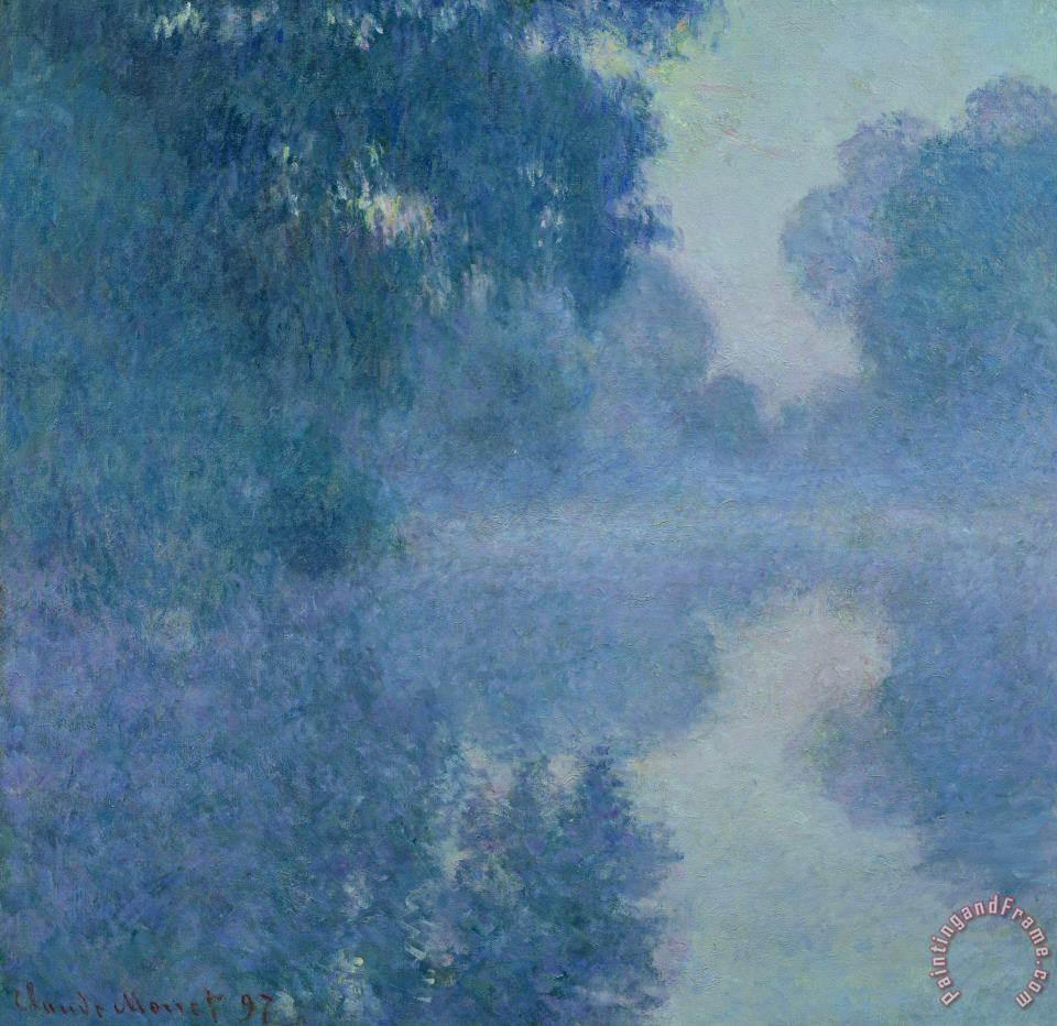 Branch of the Seine near Giverny painting - Claude Monet Branch of the Seine near Giverny Art Print