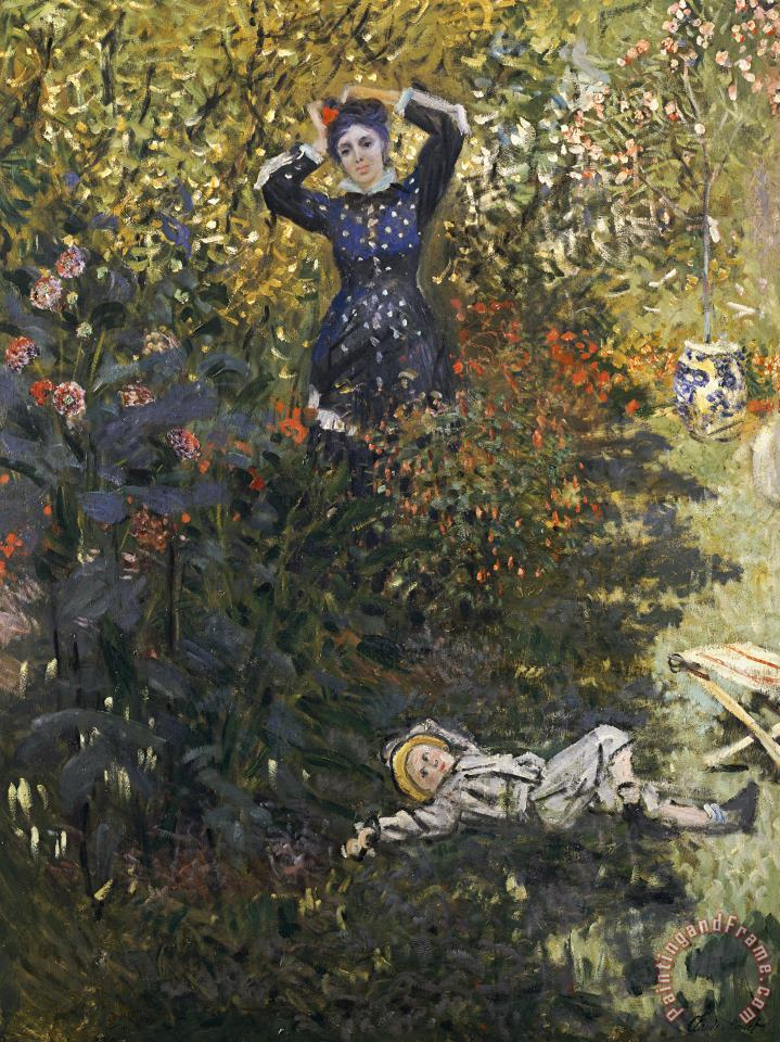 Camille and Jean in the Garden at Argenteuil painting - Claude Monet Camille and Jean in the Garden at Argenteuil Art Print