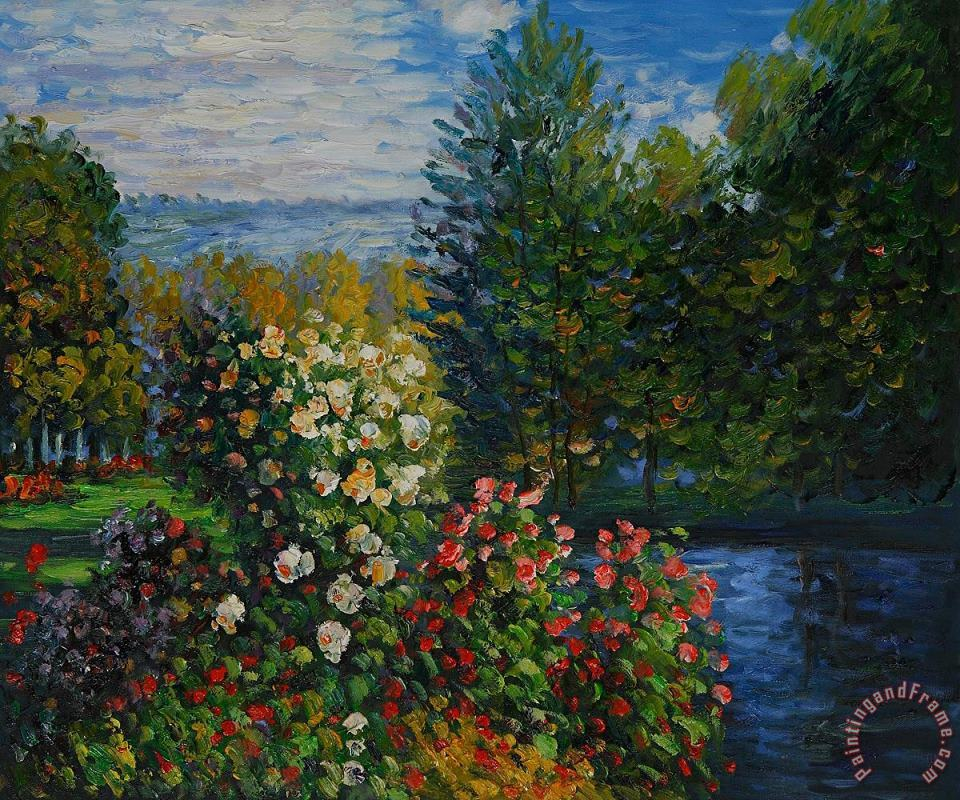 Corner Of The Garden At Montgeron painting - Claude Monet Corner Of The Garden At Montgeron Art Print