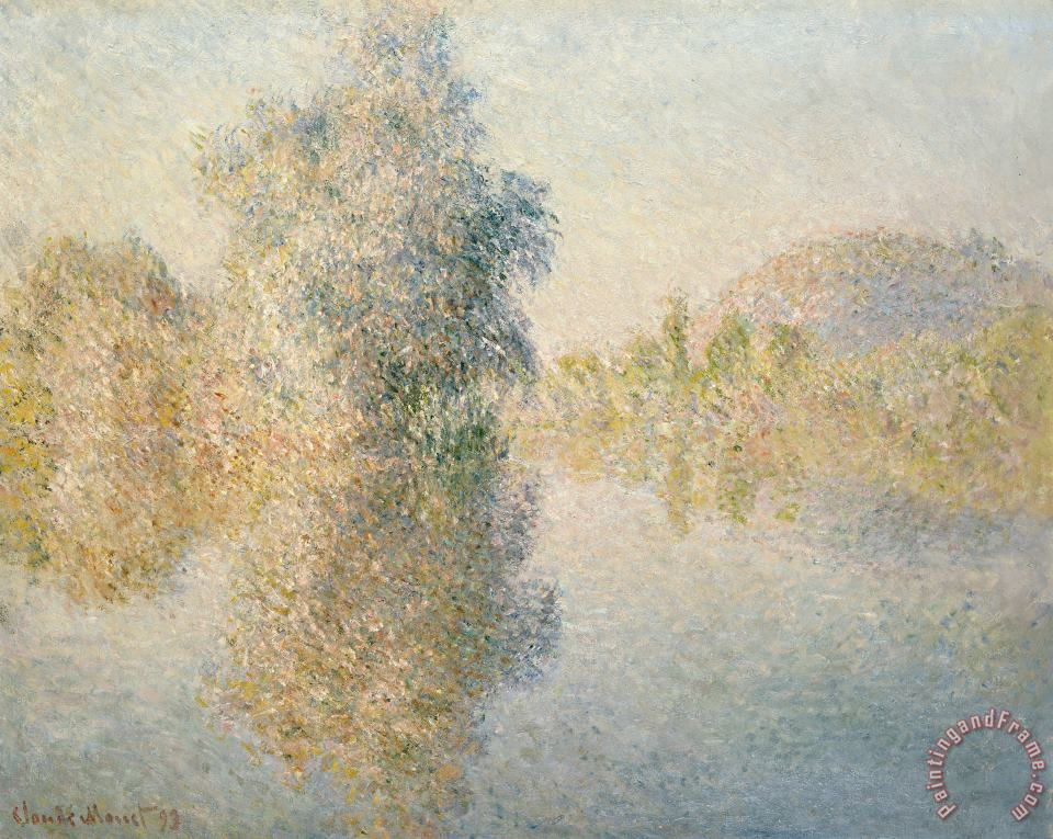 Early Morning on the Seine at Giverny painting - Claude Monet Early Morning on the Seine at Giverny Art Print