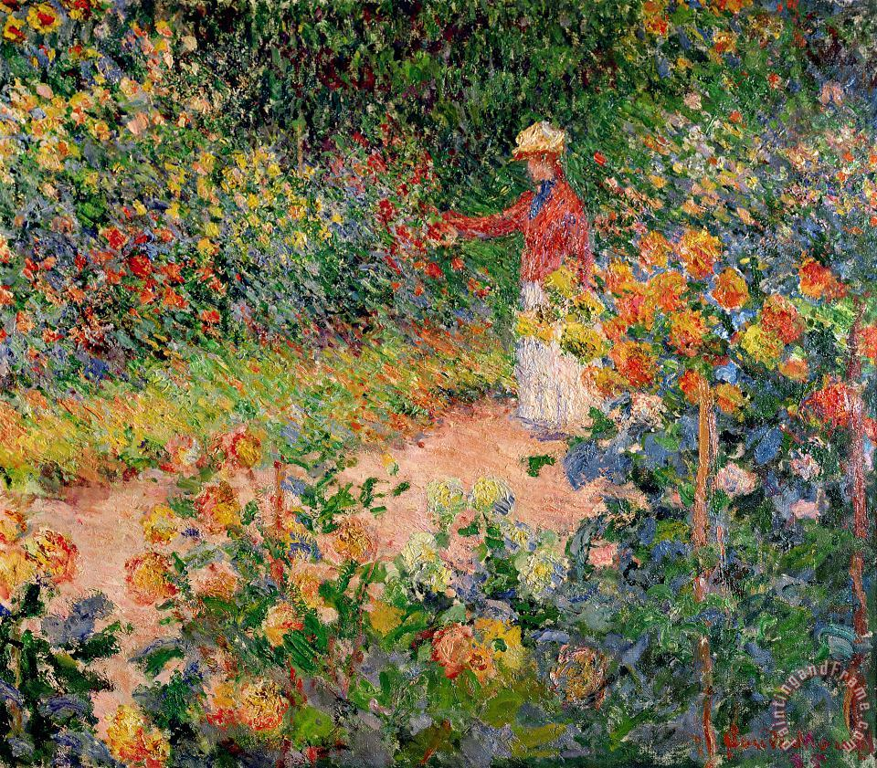 Claude Monet Garden at Giverny Art Painting