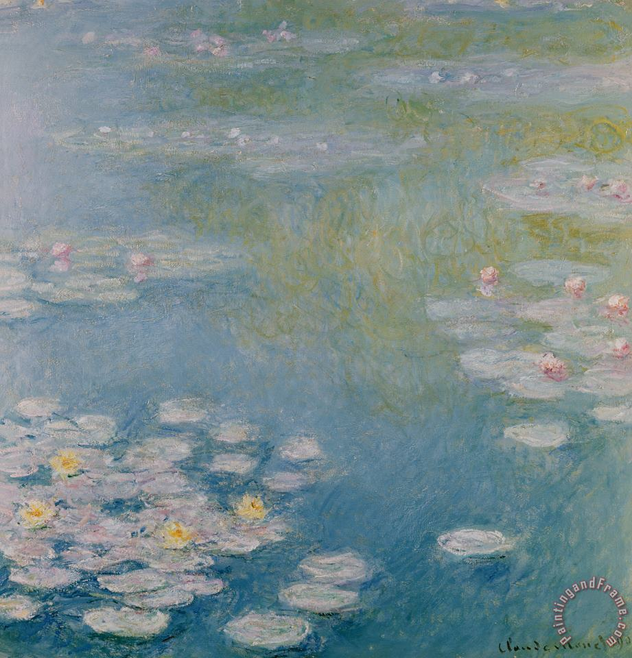 Nympheas at Giverny painting - Claude Monet Nympheas at Giverny Art Print