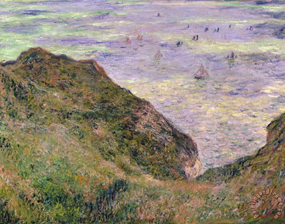 On The Cliff At Pourville painting - Claude Monet On The Cliff At Pourville Art Print