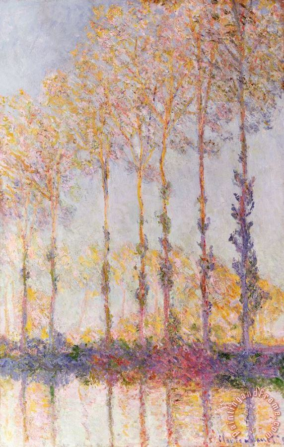 Poplars on the Banks of the Epte painting - Claude Monet Poplars on the Banks of the Epte Art Print
