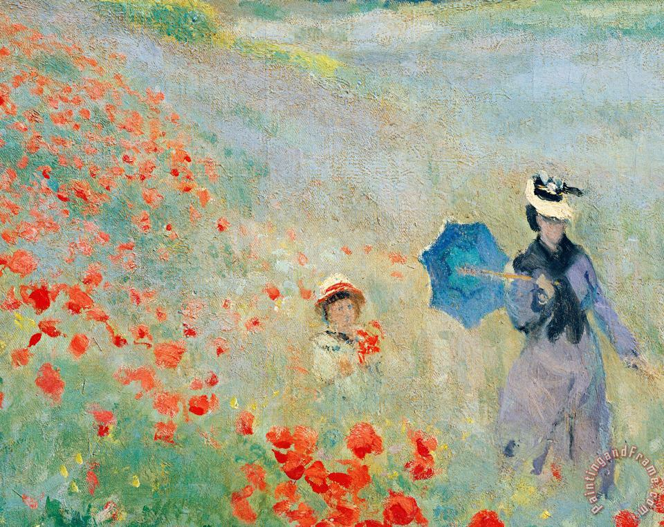 Poppies At Argenteuil painting - Claude Monet Poppies At Argenteuil Art Print