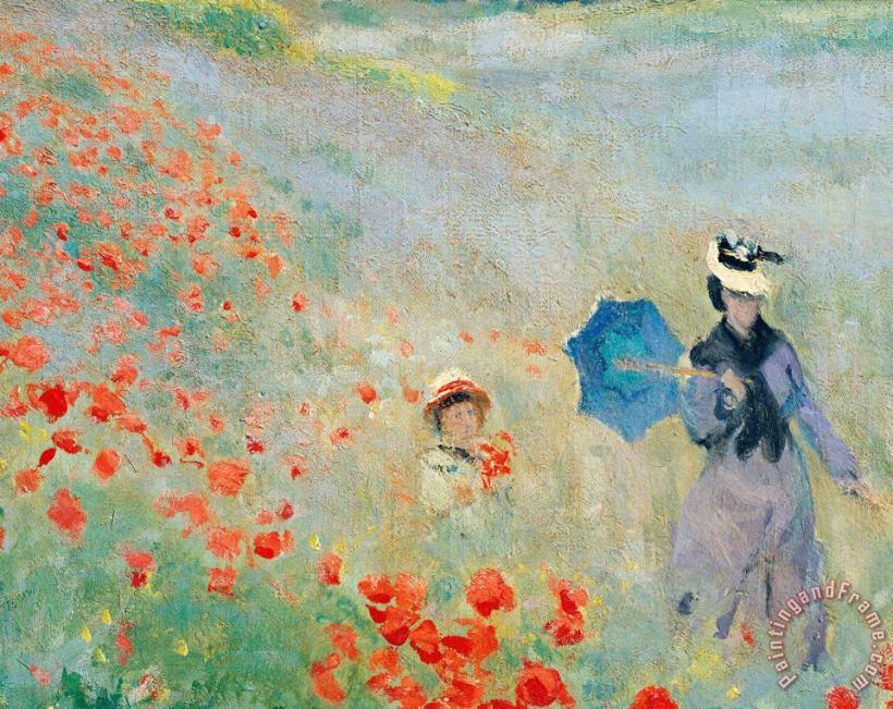 Claude Monet Poppies At Argenteuil Stretched Canvas Print Canvas Art For Sale Paintingandframe Com