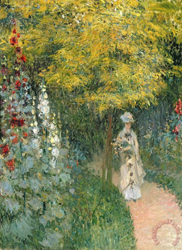Claude Monet Rose Garden Art Painting