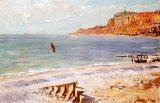 Seascape at Sainte Adresse by Claude Monet