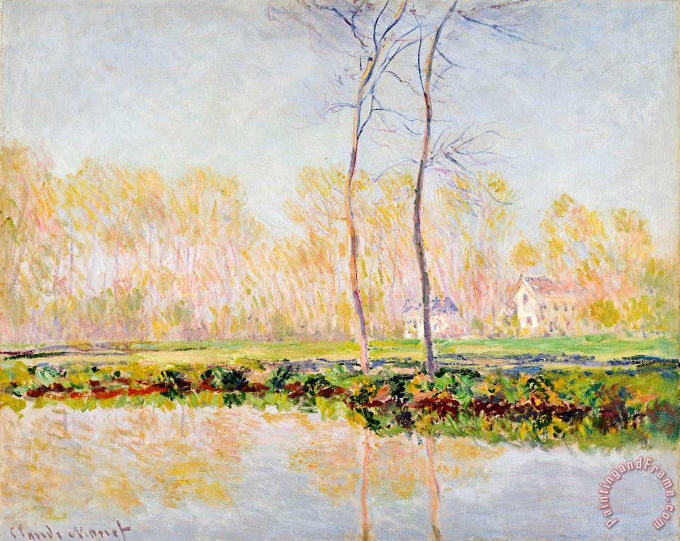 The Banks of the River Epte at Giverny painting - Claude Monet The Banks of the River Epte at Giverny Art Print