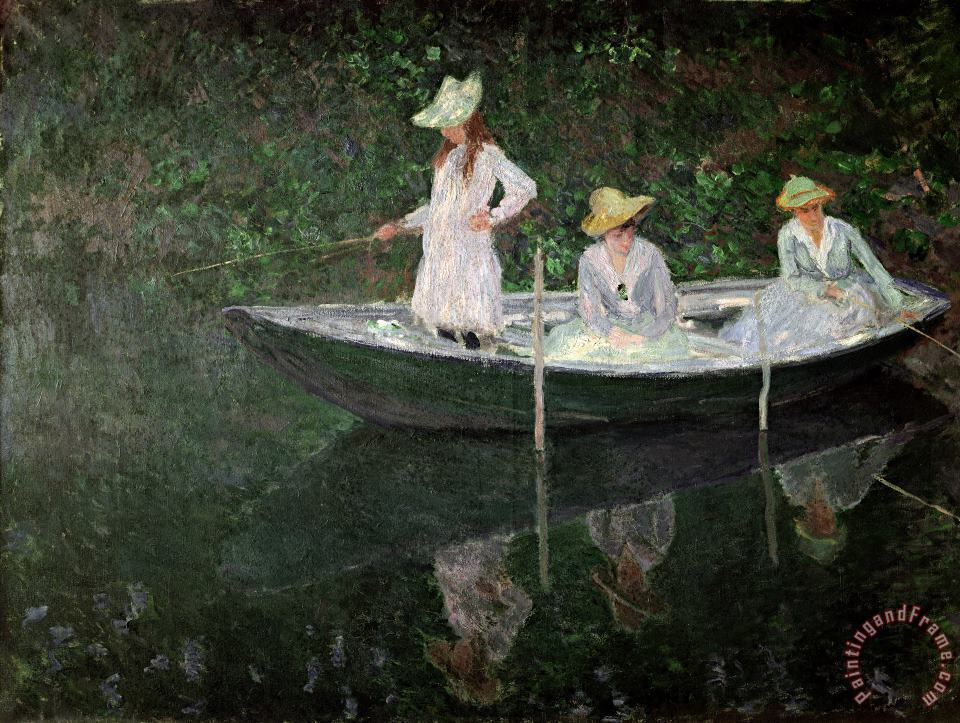 The Boat at Giverny painting - Claude Monet The Boat at Giverny Art Print