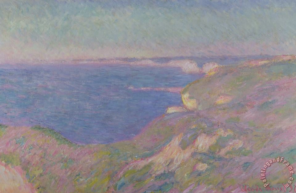 The Cliffs Near Dieppe painting - Claude Monet The Cliffs Near Dieppe Art Print