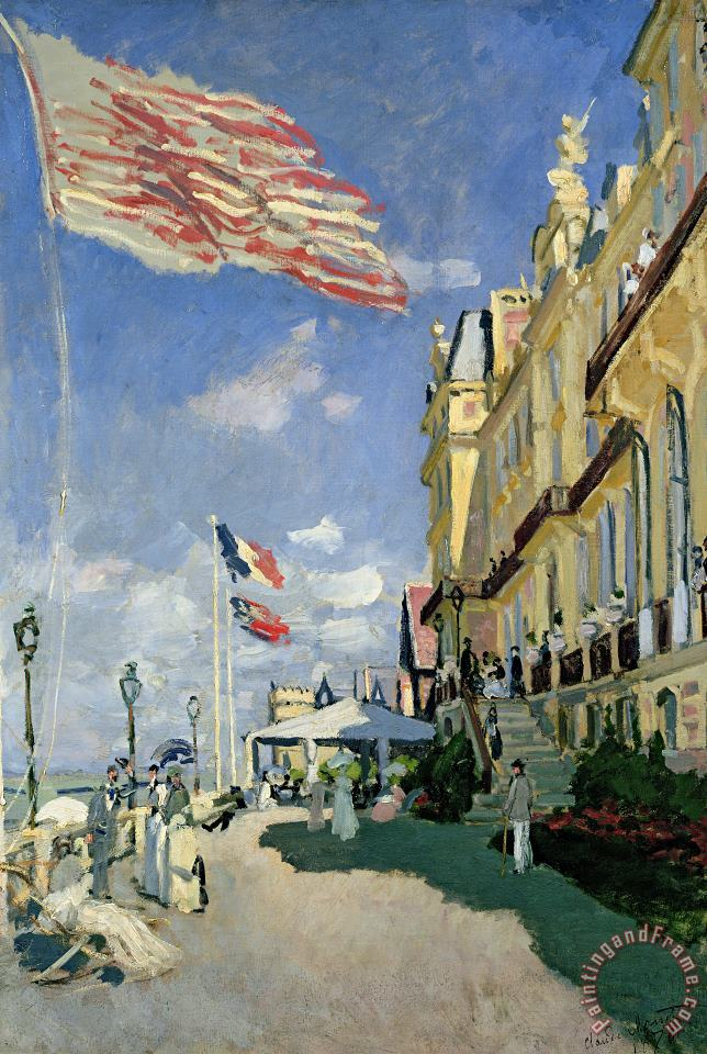 The Hotel des Roches Noires at Trouville painting - Claude Monet The Hotel des Roches Noires at Trouville Art Print