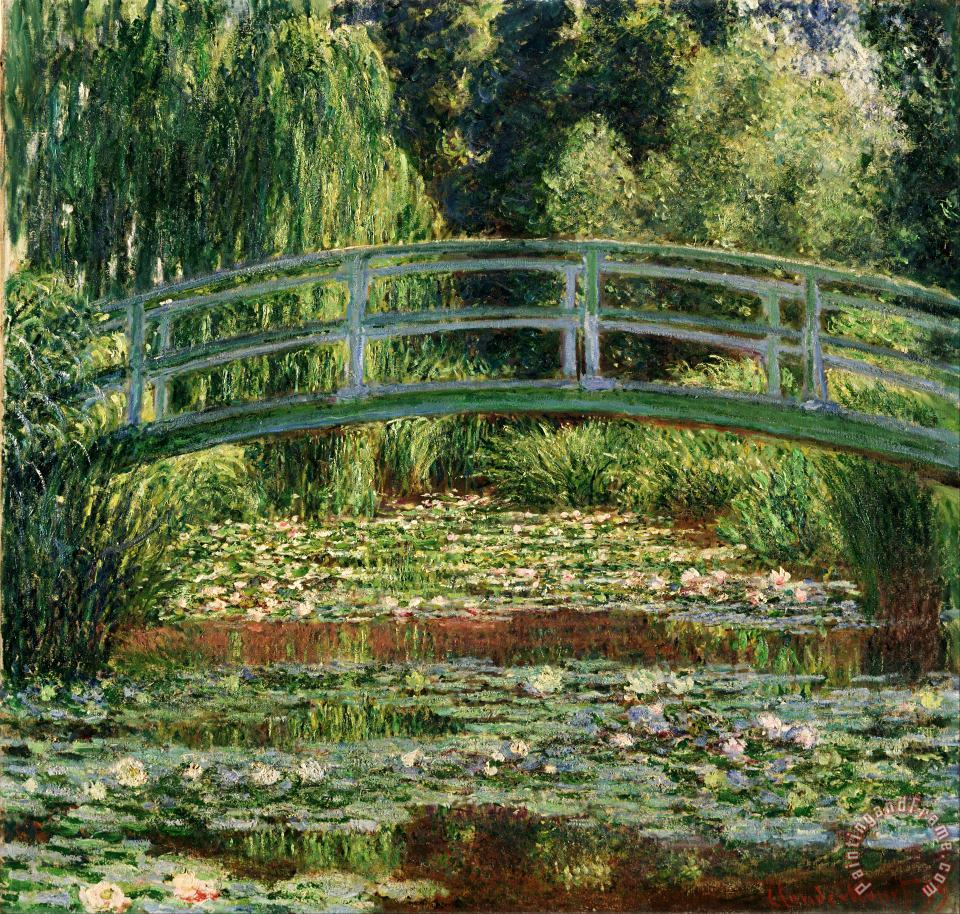 The Japanese Footbridge And The Water Lily Pool, Giverny painting - Claude Monet The Japanese Footbridge And The Water Lily Pool, Giverny Art Print
