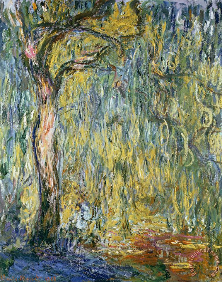 The Large Willow at Giverny painting - Claude Monet The Large Willow at Giverny Art Print