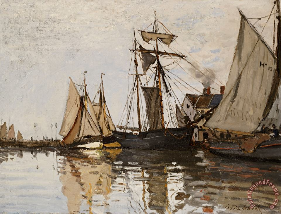 The Port of Honfleur painting - Claude Monet The Port of Honfleur Art Print
