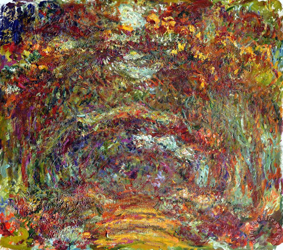 The Rose Path Giverny painting - Claude Monet The Rose Path Giverny Art Print