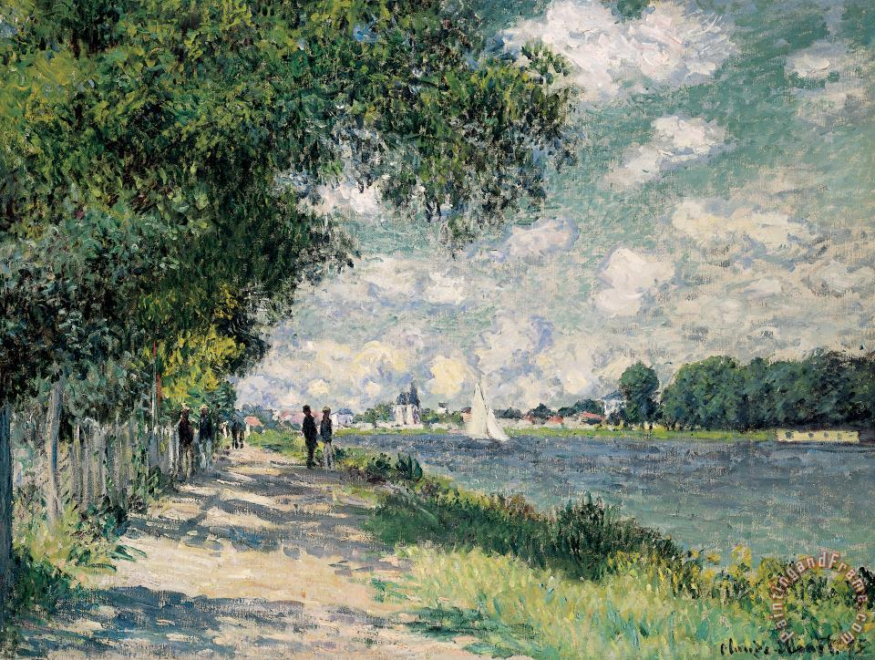 The Seine at Argenteuil painting - Claude Monet The Seine at Argenteuil Art Print