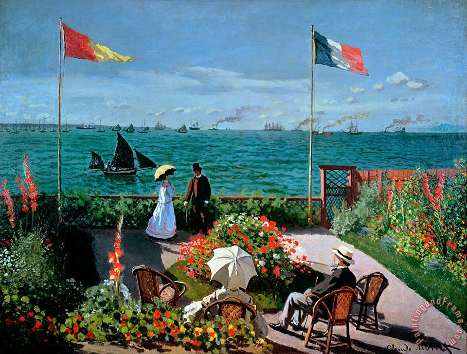 Claude Monet The Terrace at Sainte Adresse Art Painting
