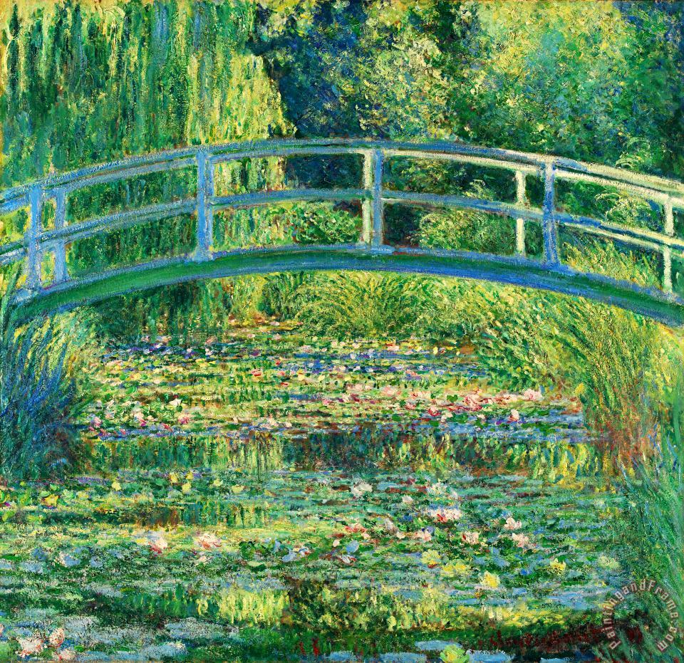 The Waterlily Pond With The Japanese Bridge painting - Claude Monet The Waterlily Pond With The Japanese Bridge Art Print