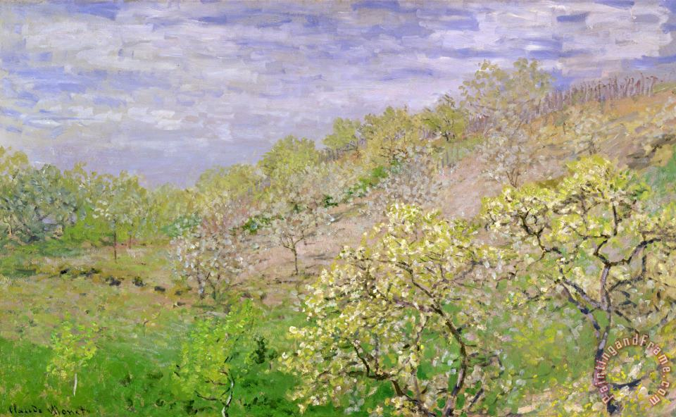 Claude Monet Trees in Blossom Art Print