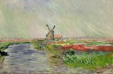 Tulip Field in Holland by Claude Monet