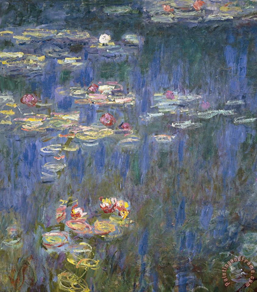 Water Lilies painting - Claude Monet Water Lilies Art Print