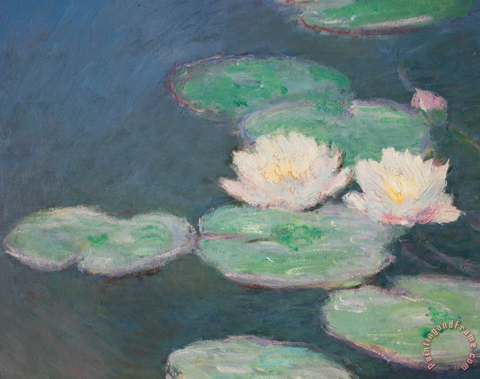 Waterlilies painting - Claude Monet Waterlilies Art Print