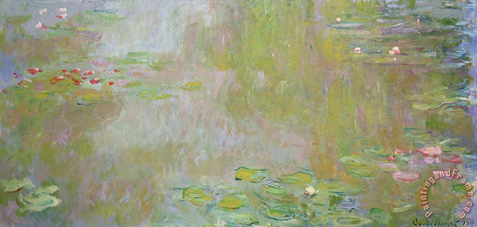 Waterlilies at Giverny painting - Claude Monet Waterlilies at Giverny Art Print