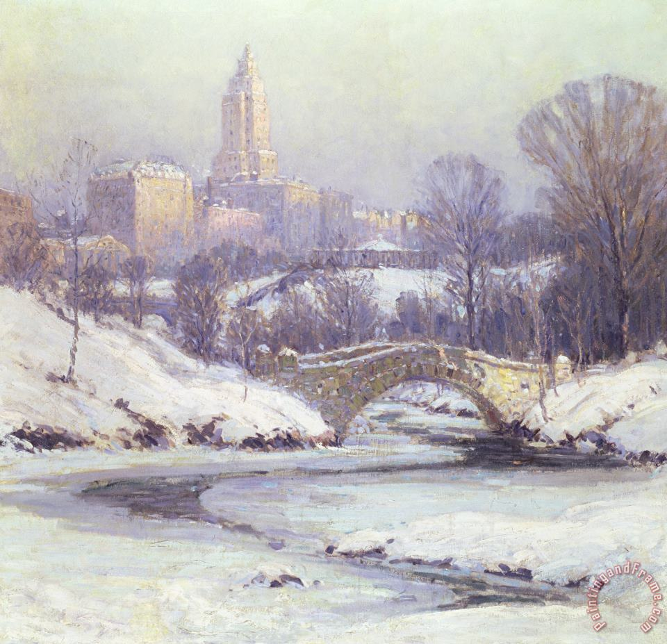 Colin Campbell Cooper Central Park Art Painting