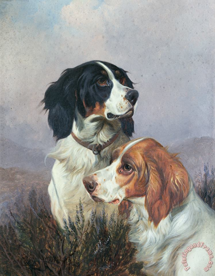 Setters on a Moor painting - Colin Graeme Setters on a Moor Art Print