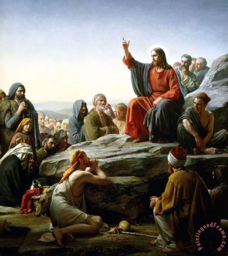 Carl Bloch The Sermon on The Mount painting - Collection Carl Bloch The Sermon on The Mount Art Print
